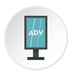 Advertising stand icon circle vector