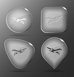 Airliner glass buttons vector