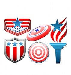 American star and stripes set vector