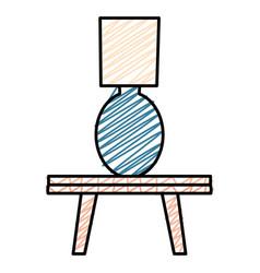 bedroom lamp in table vector image