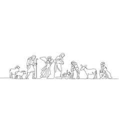bible scene of holy family vector image
