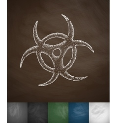 Biohazards symbol icon vector