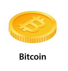 Bitcoin icon isometric style vector
