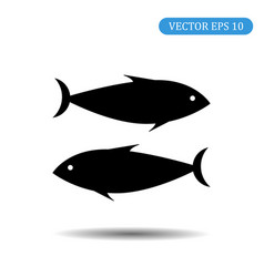 black fish icon eps 10 vector image