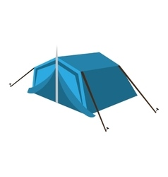 blue camping tent graphic vector image