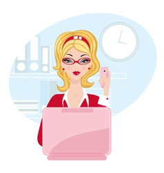 Chick office woman vector image