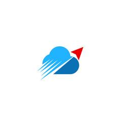 cloud speed arrow technology logo vector image