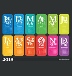 Creative calendar 2018 vector