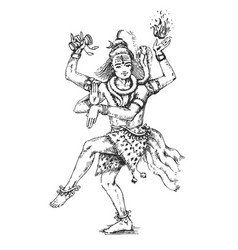 Dancing lord shiva indian vector