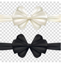 decorative pink and black bow with horizontal vector image