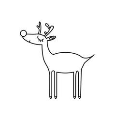 deer online icon vector image
