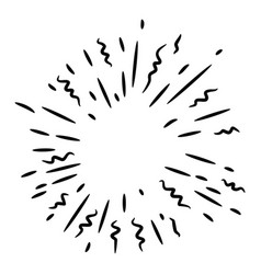 Doodle design element starburst doodle vector