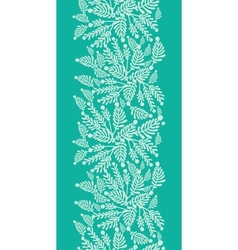 Emerald green plants vertical seamless pattern vector image
