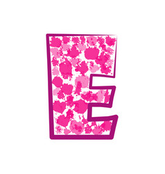 English pink letter e on a white background vector