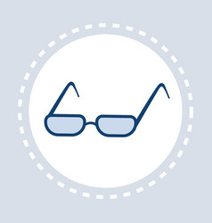 eye glasses icon optical elegant eyeglasses flat vector image