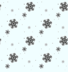 festive christmas background of snowflakes for vector image