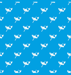 Fishing pattern seamless blue vector