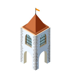 fort fortress castle isometric vector image