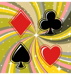 gambling cards vector image