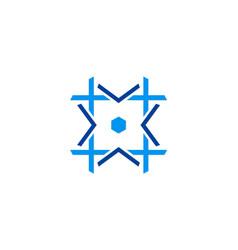 geometry shape circle square logo vector image