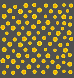Gold coins pattern on a gray vector