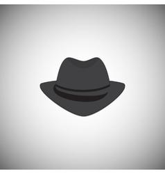 Grey vintage hat with a brim vector