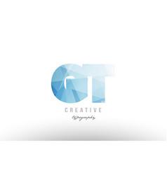 Gt g t blue polygonal alphabet letter logo icon vector