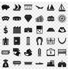 investment icons set simple style vector image