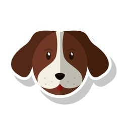 Isolated dog pet design vector