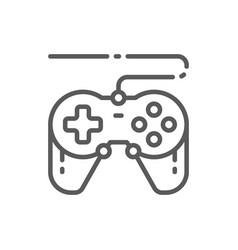 Joystick gamepad gaming device line icon vector