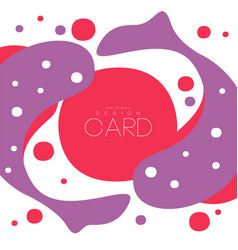 Koi carp pattern asian art card original design vector