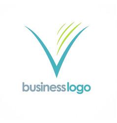 letter v company logo vector image