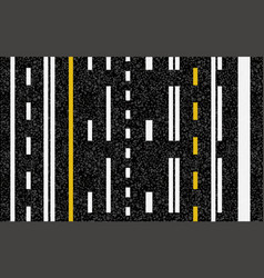 Lines and lane markings on road vector