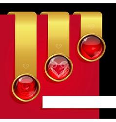 love ribbons set vector image