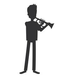 Man playing trump character vector