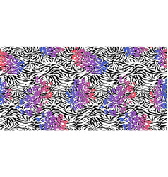 modern neon zebra vector image
