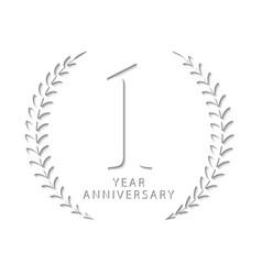 One year anniversary vector
