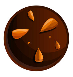 Peanut choco biscuit icon cartoon style vector