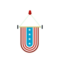 pennant with national flag usa icon vector image