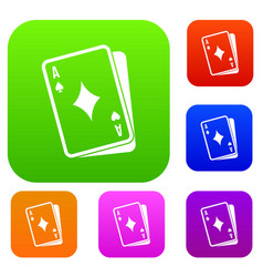 playing card set collection vector image