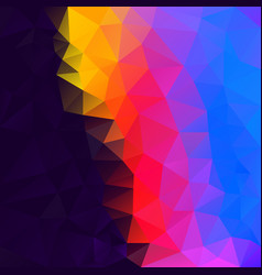 polygonal square background dark neon rainbow vector image