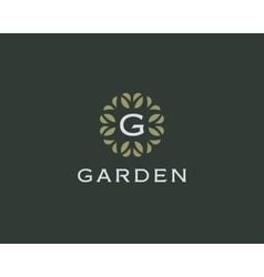 Premium monogram letter G initials logo Universal vector image