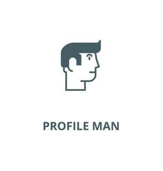 Profile man line icon linear concept vector