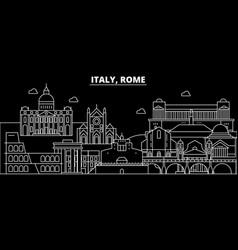 rome city silhouette skyline italy - rome city vector image