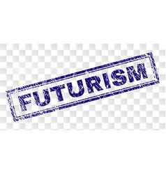 Scratched futurism rectangle stamp vector