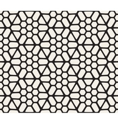 Seamless Black And White Hexagonal vector image