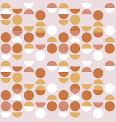 Seamless geometric pattern circle and semicircle vector
