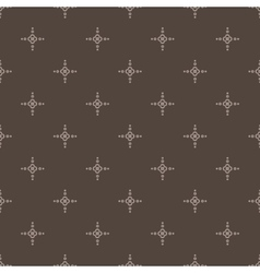 seamless pattern with leaves and petals vector image
