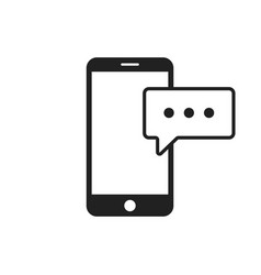 smartphone with message icon texting message vector image