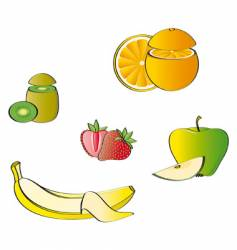 some fruits vector image vector image